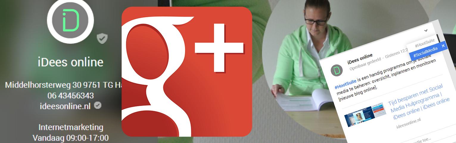 Hashtags gebruiken op Google+