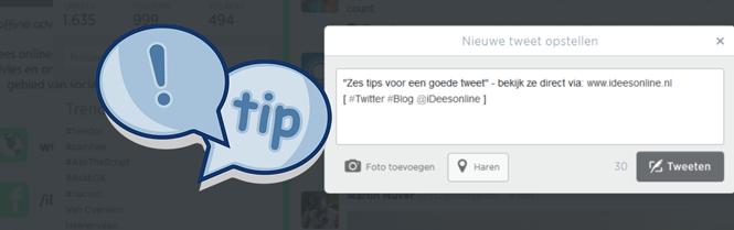 Zes tips voor een goede tweet