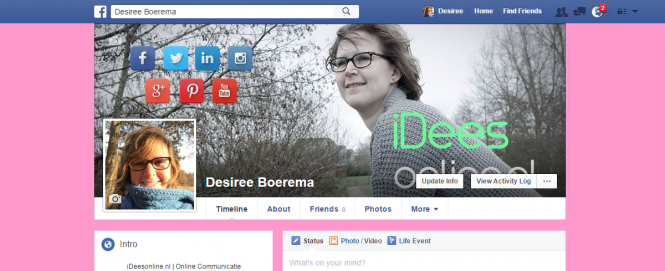 Nieuw! Tijdlijn achtergrond Facebook in kleur!