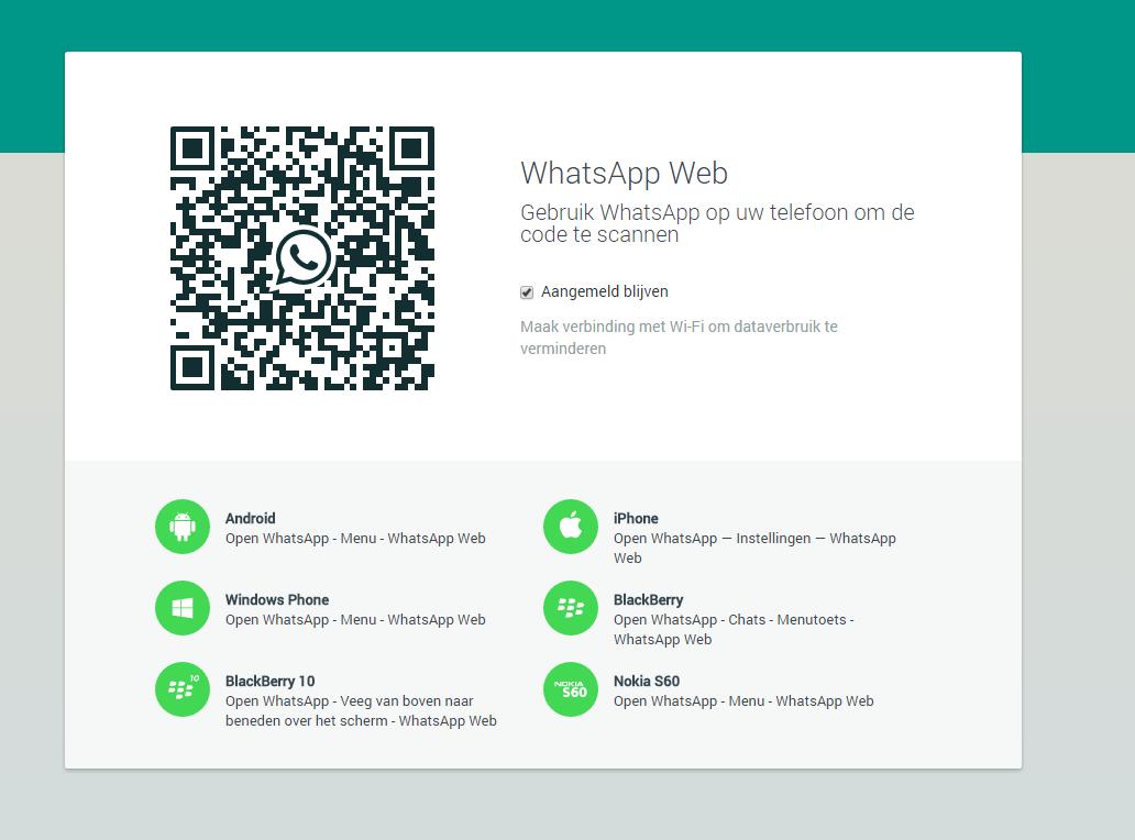 Whatsapp Web, appen via de computer! ⋆ iDees online