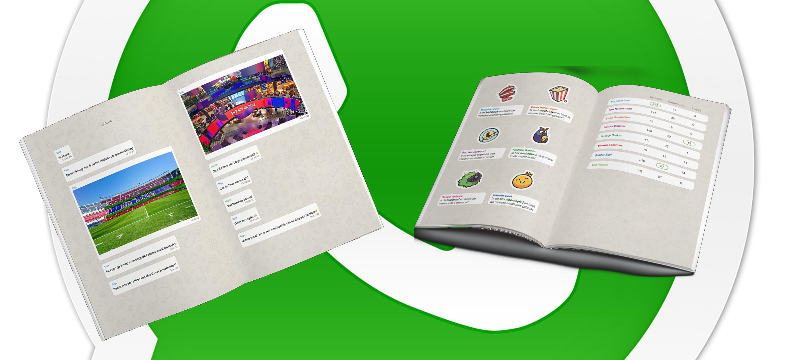 Whappbook, een fotoalbum van je leukste chats!
