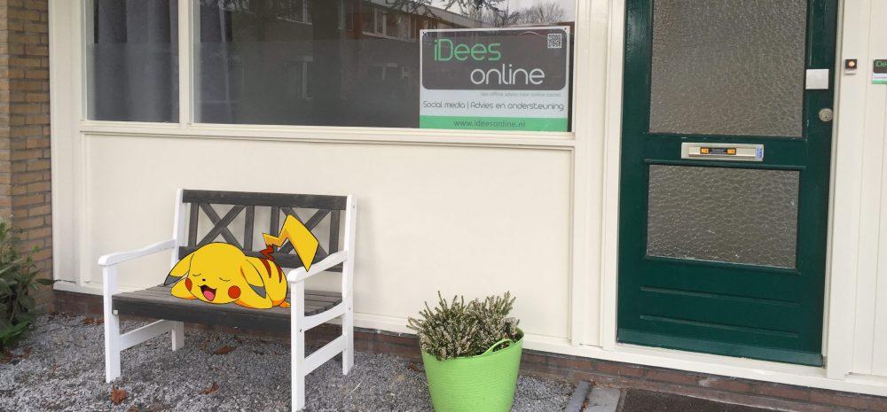 Pikachu aan het chillen bij iDees online