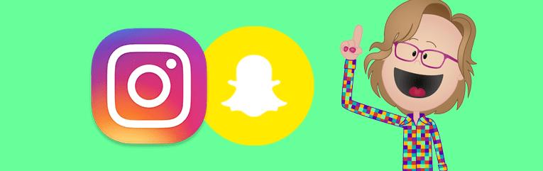 Snapchat en Instagram in aantal gebruikers enorm gestegen