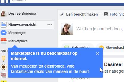 Marketplace: marktplaats van Facebook