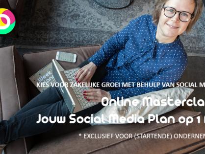Online Masterclass Jouw Social Media Plan op 1 A4