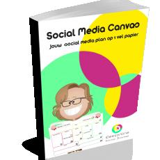 social media canvas idees online social media plan