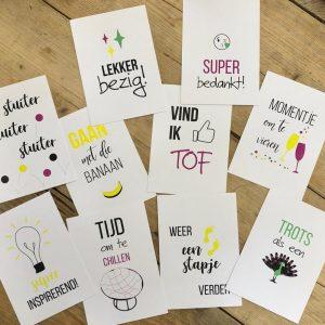 social media kaarten iDees online 10 stuks