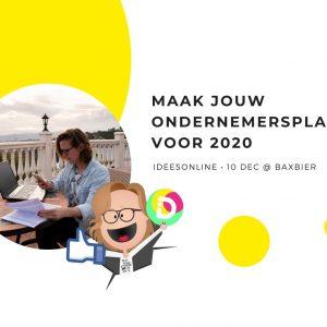 maak jouw ondernemersplannen voor 2020 blog