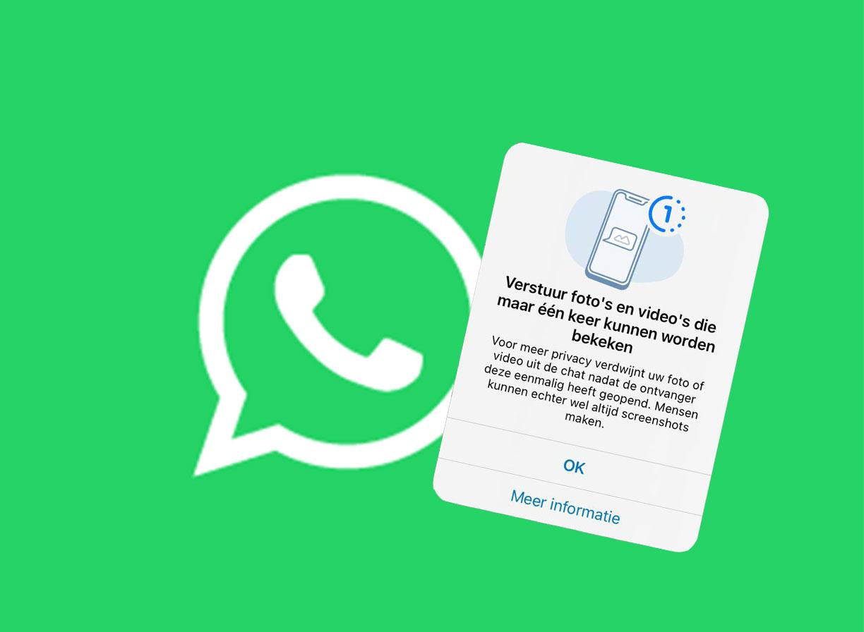 Whatsapp foto's en video's die maar één keer bekeken kunnen worden